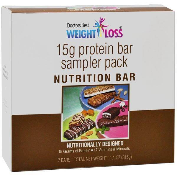 Doctors Best Weight Loss 15g Protein Nutrition Bar Sampler Pack
