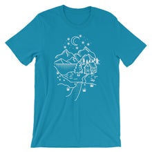 Load image into Gallery viewer, Home Is Where The Heart Is (White) Unisex T-Shirt - Mountain Wanderlust