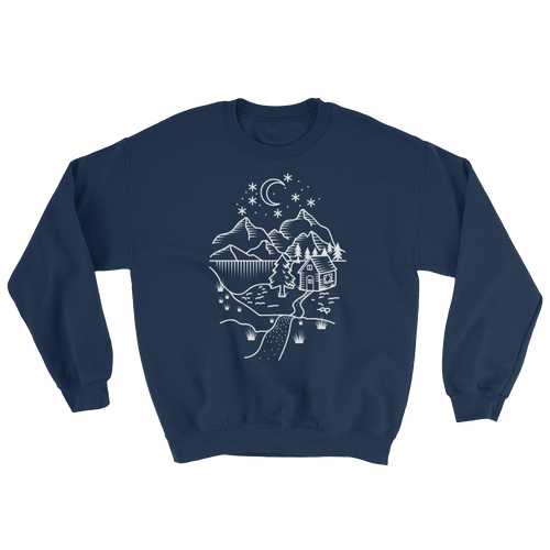 Home Is Where The Heart Is Sweatshirt - Mountain Wanderlust