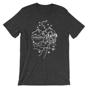 Home Is Where The Heart Is (White) Unisex T-Shirt - Mountain Wanderlust