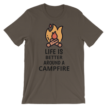 Load image into Gallery viewer, Life Is Better Around A Campfire T-Shirt - Mountain Wanderlust