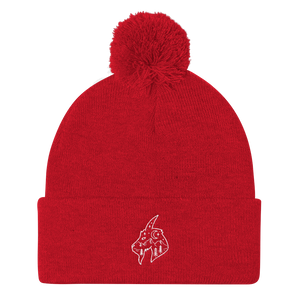 Mountain Goat Pom Pom Knit Cap