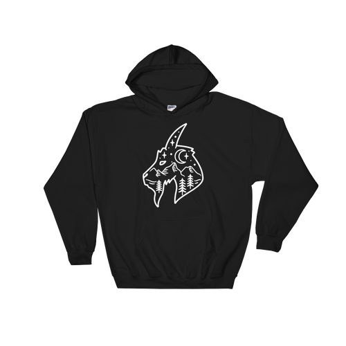 Mountain Goat Hooded Sweatshirt - Mountain Wanderlust