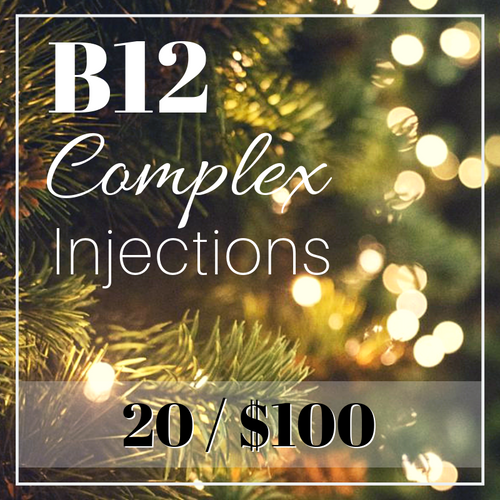 Day 1 Holiday Special: B12 Complex Injections Package 20/$100