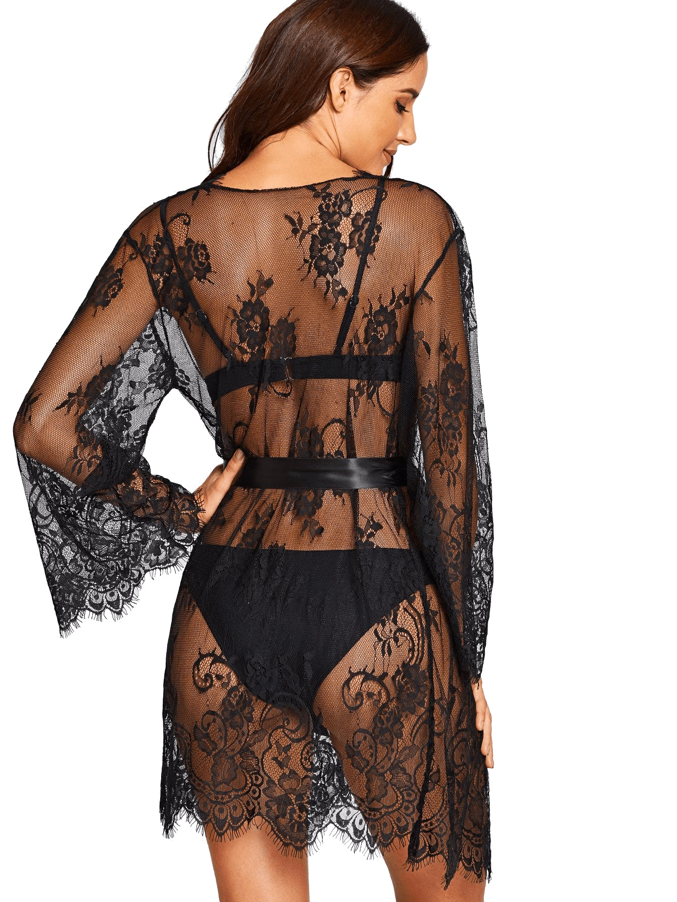 Dessert Lace Robe - Black