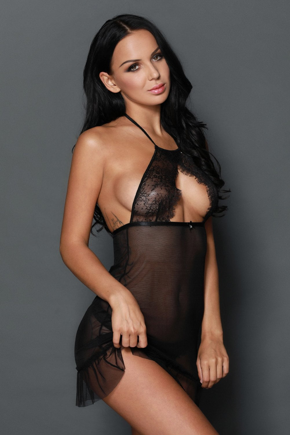Risque Hollow-Out Babydoll Set