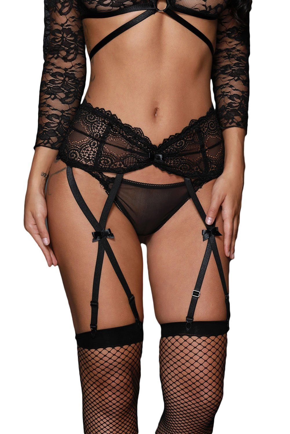 Crave Suspender Belt - Black