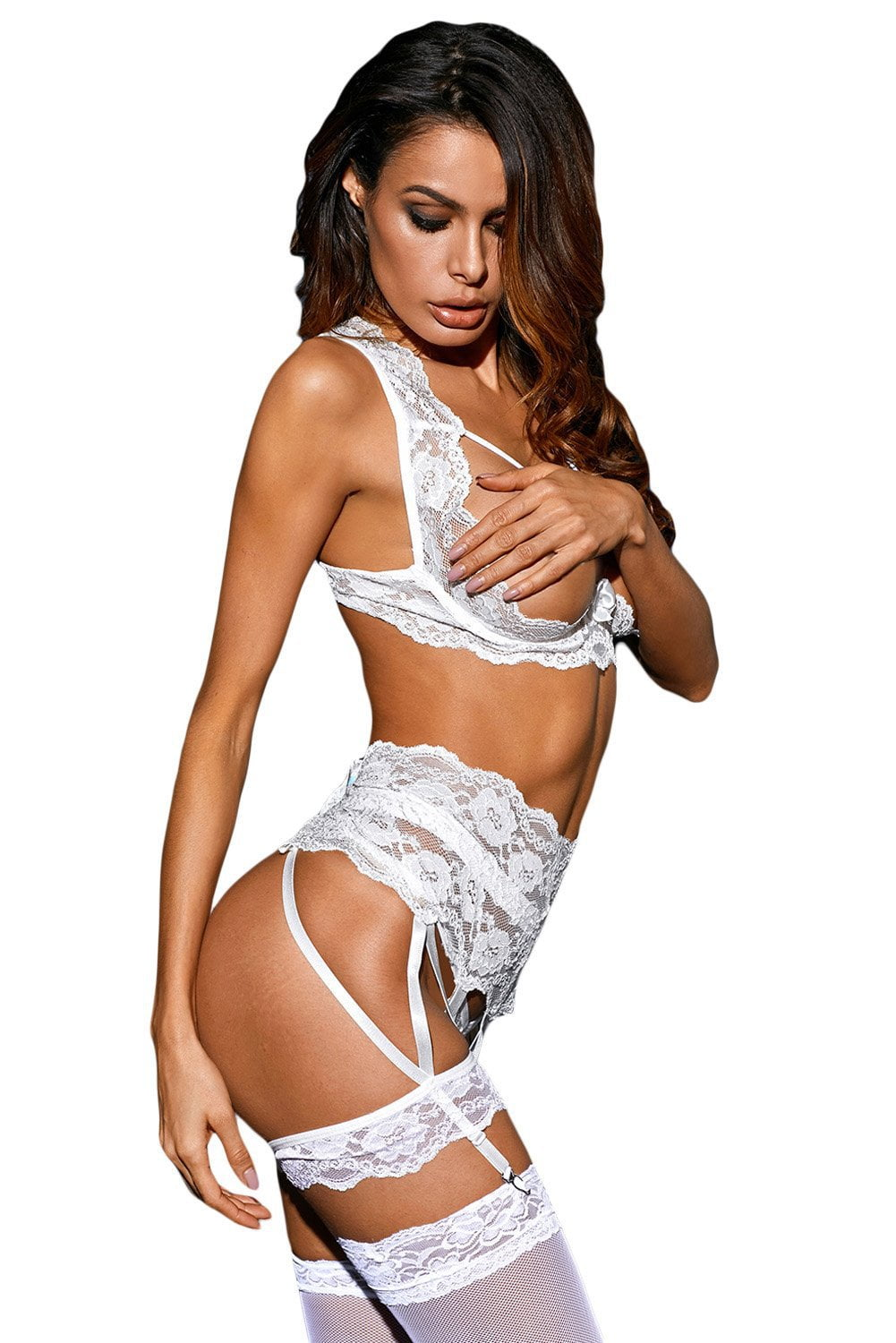 Naughty 3-Piece Set - White