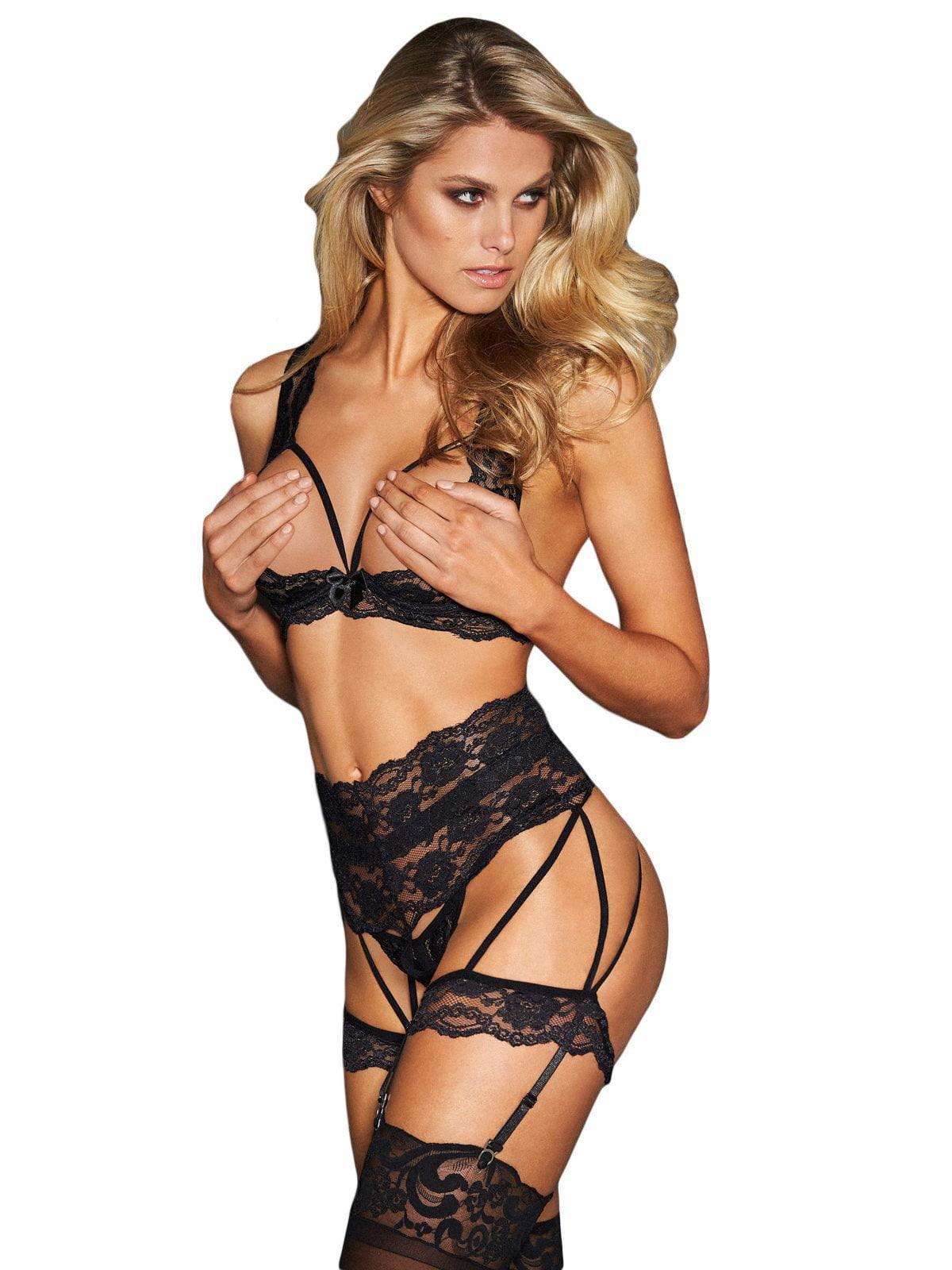 Naughty 3-Piece Set - Black