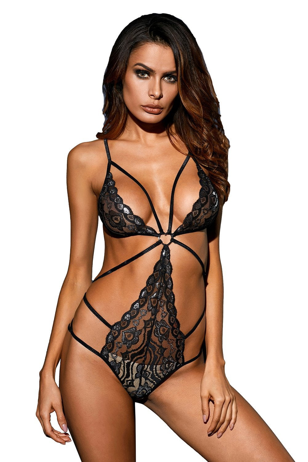 Wild Heart Bodysuit - Black