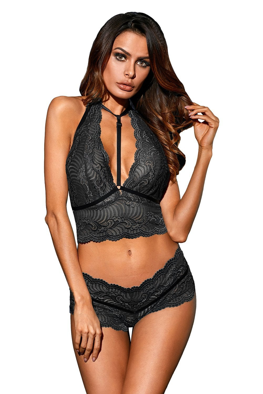 Enchant Lace Set - Black