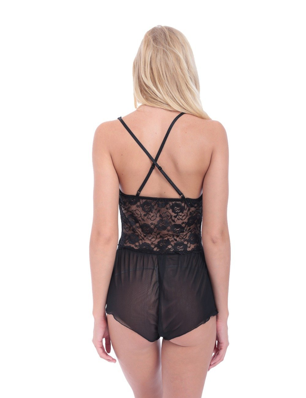Crotchless Bodysuit - Black