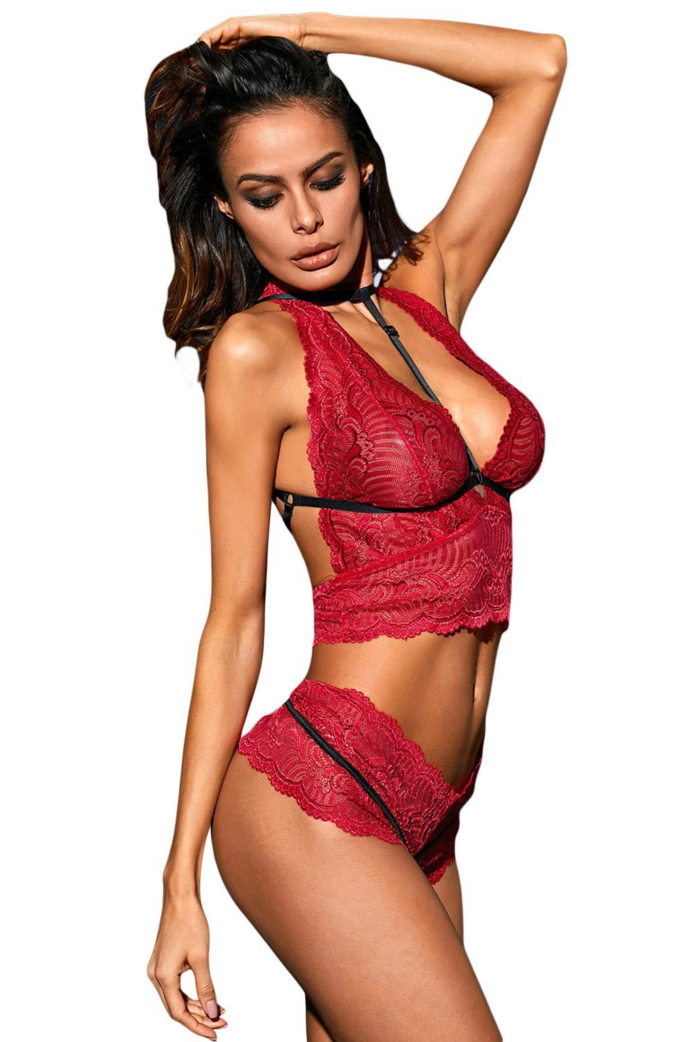 Enchant Lace Set - Red