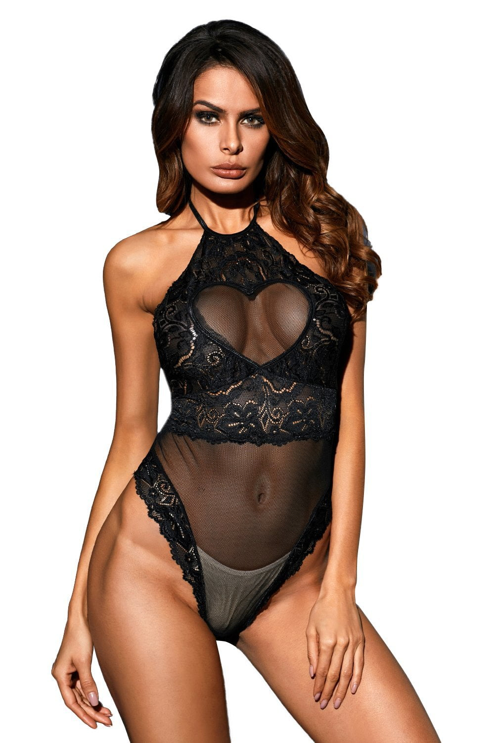 Provocative Heart Bodysuit