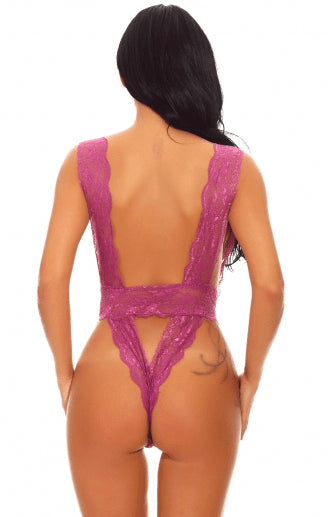 Erotic Backless Teddy - Pink