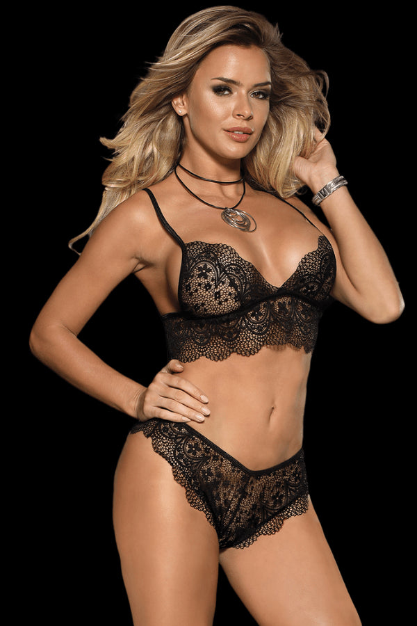 Allure Bralette Set - Black