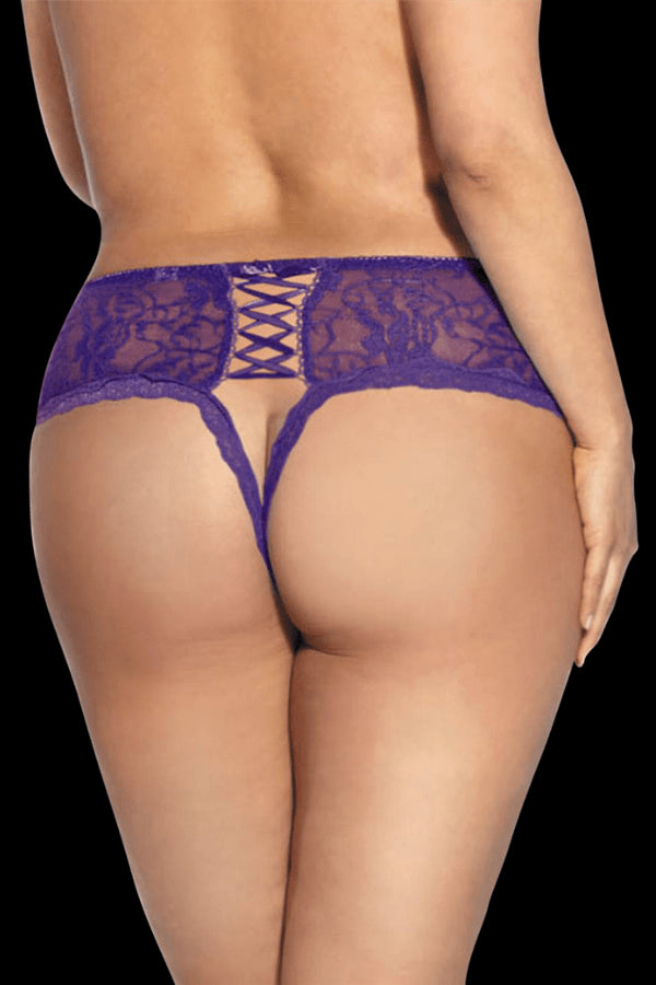 Bare Open-Crotch Brief - Purple