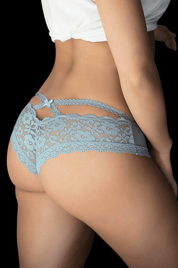 Bliss Lace Briefs - Steel Blue