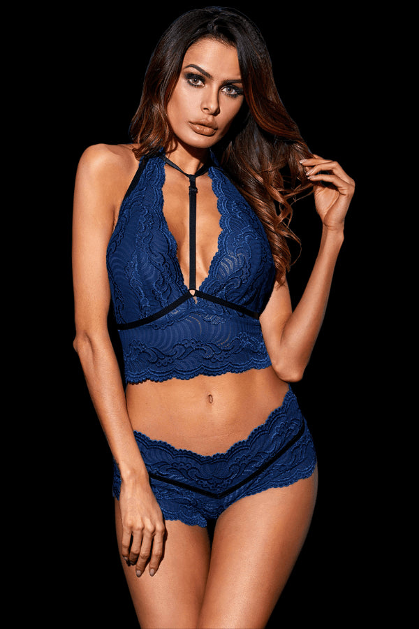 Enchant Lace Set - Navy