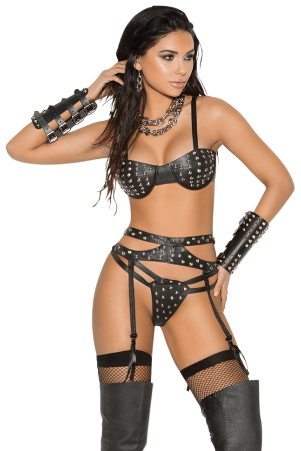 Hey Stud Leather Set