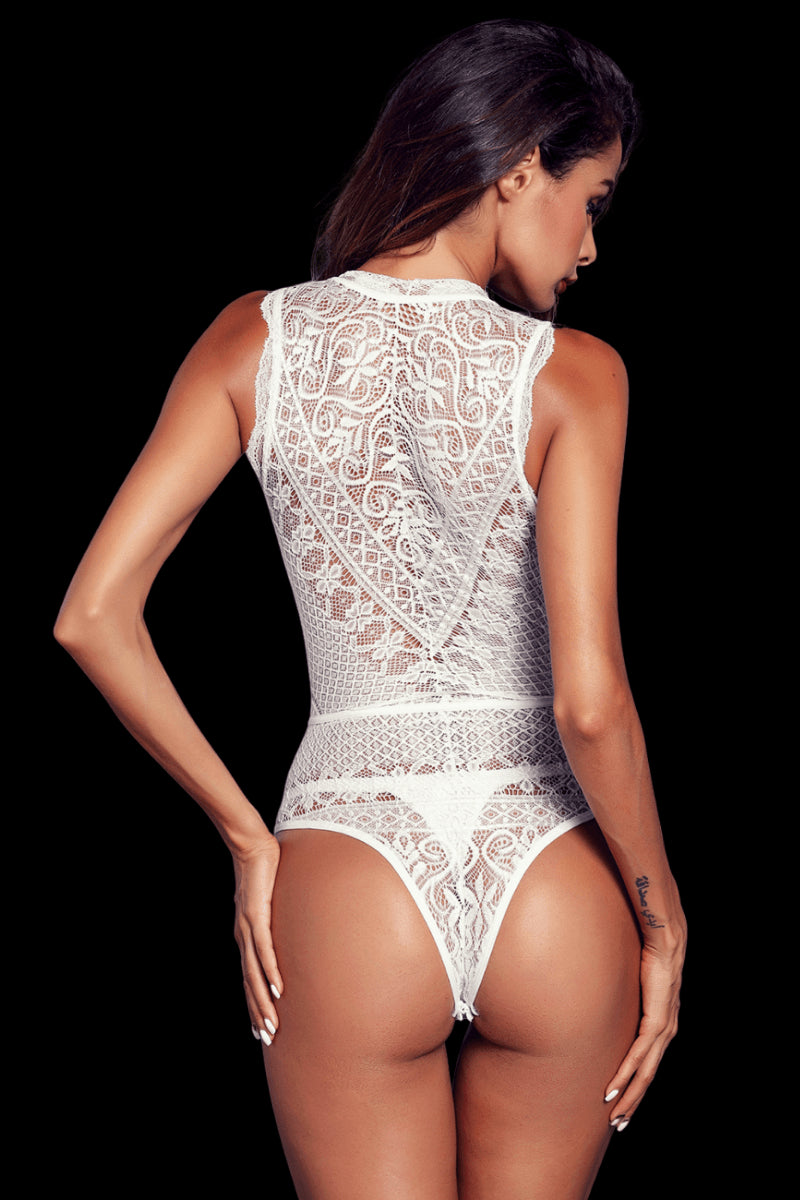 Indulge Lace Bodysuit - White