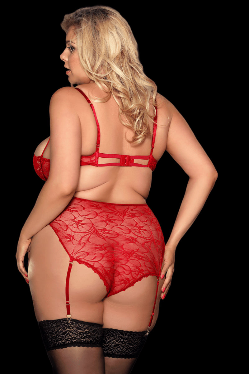 Infatuation Lace Set - Wine Red