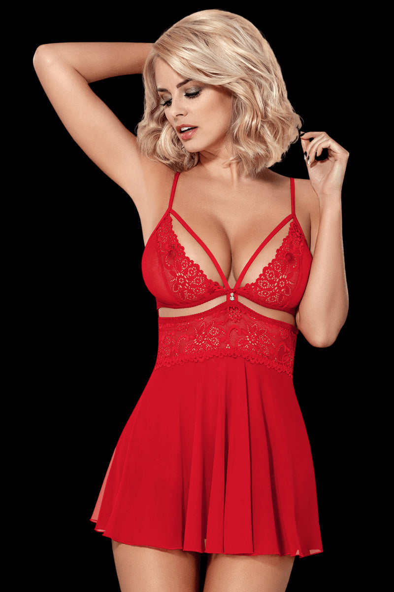 Kissable Babydoll - Red