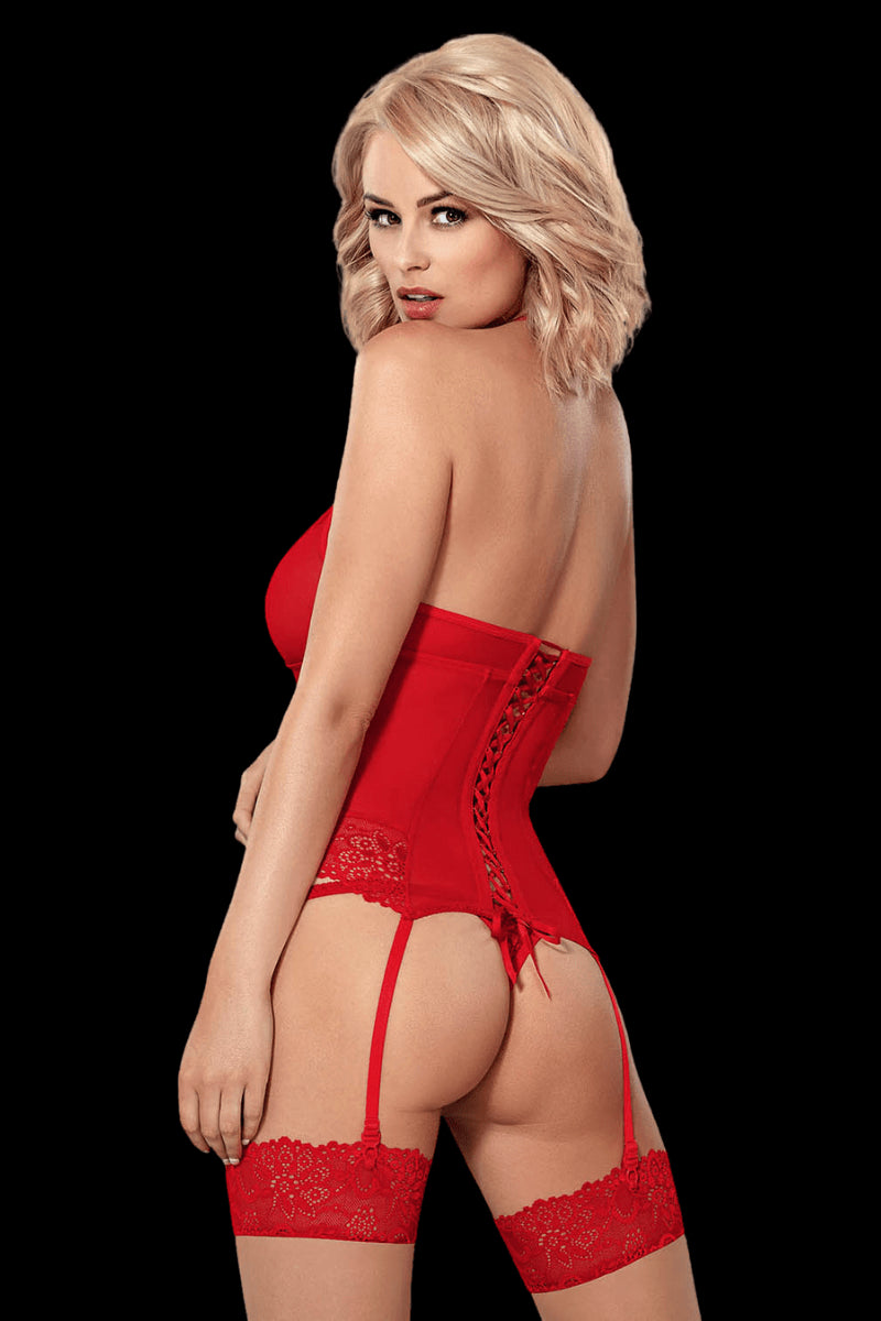 Kissable Corset Set - Red
