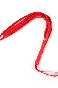 Leather Whip - Red