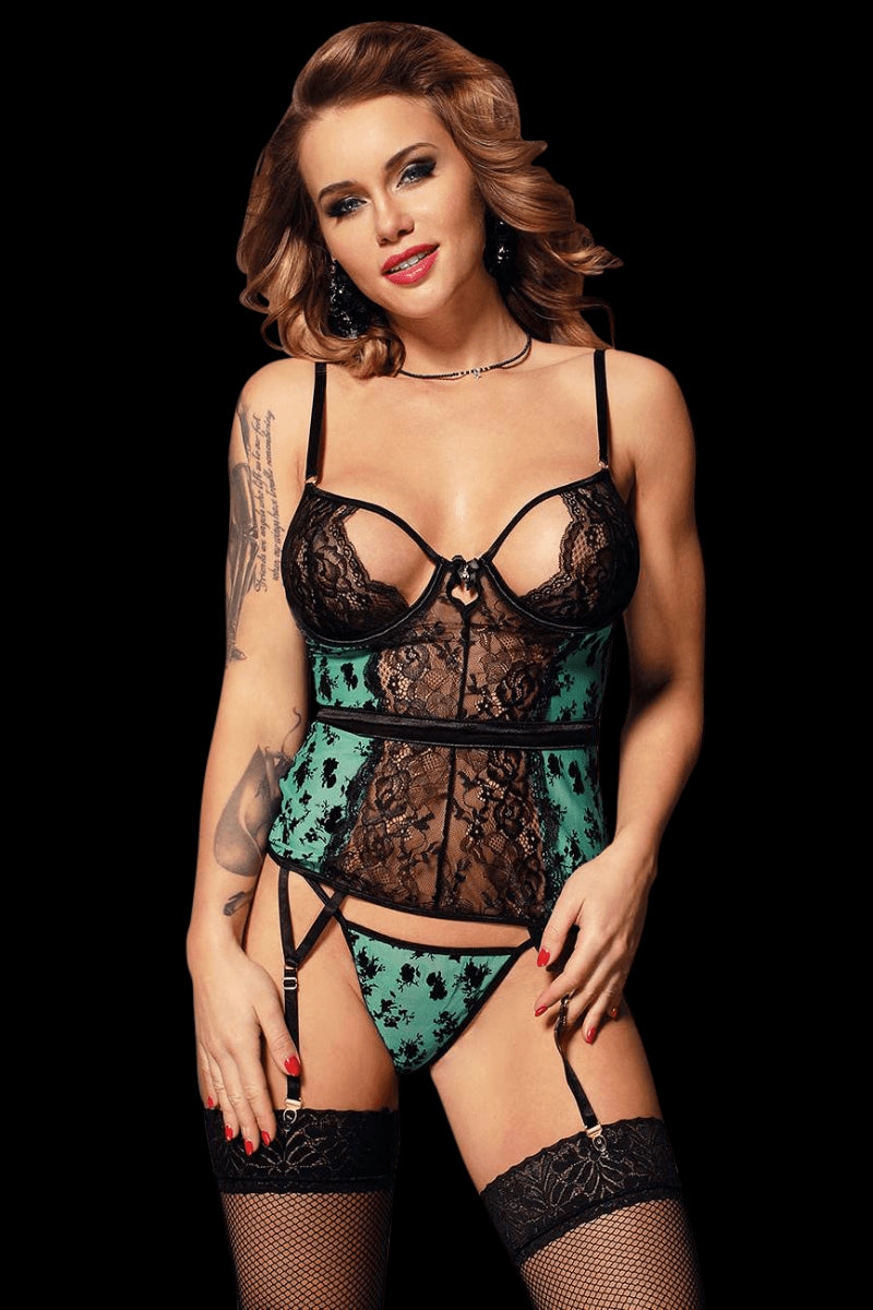 Paradise Bustier Set - Green