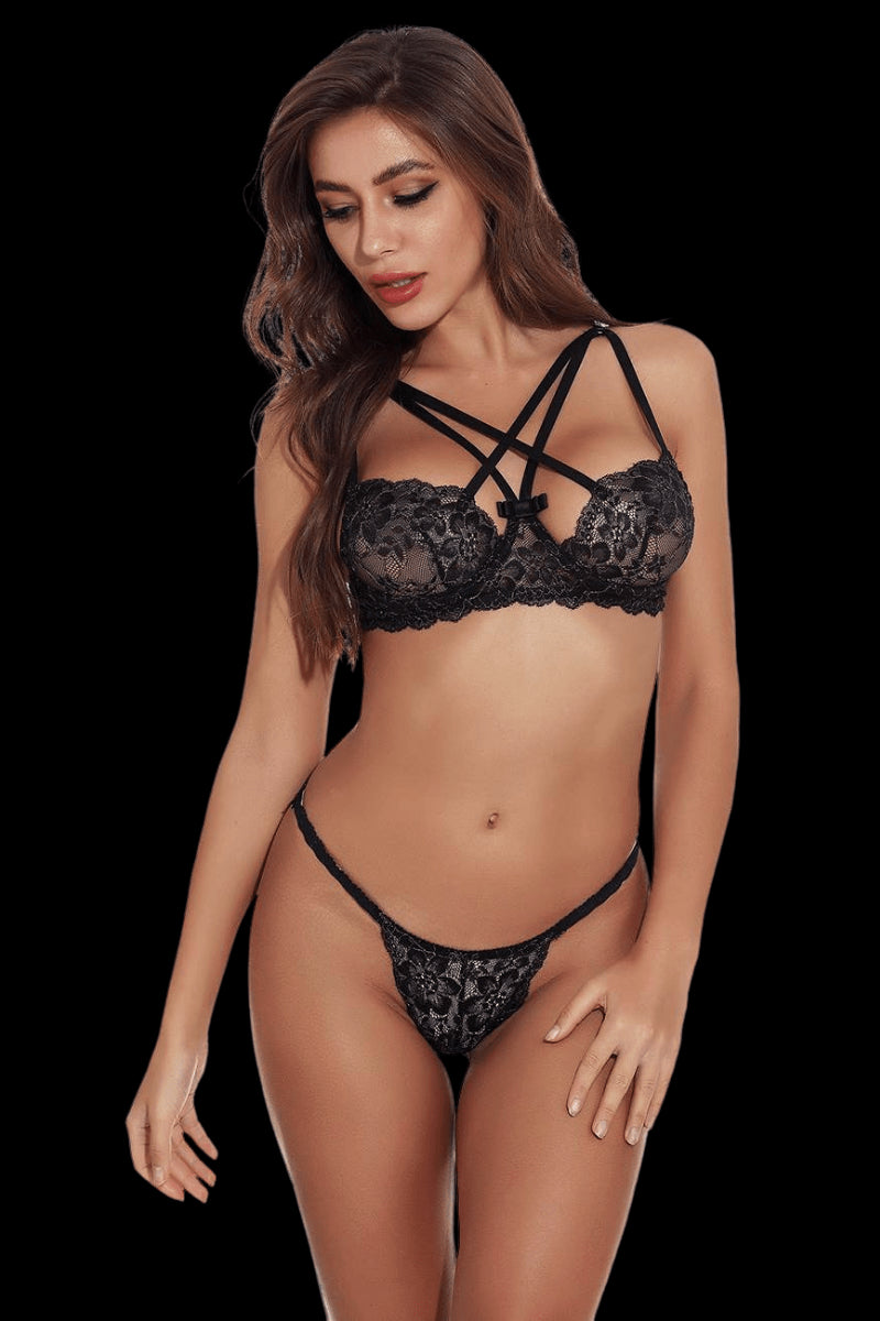 Savage Lace Set - Black