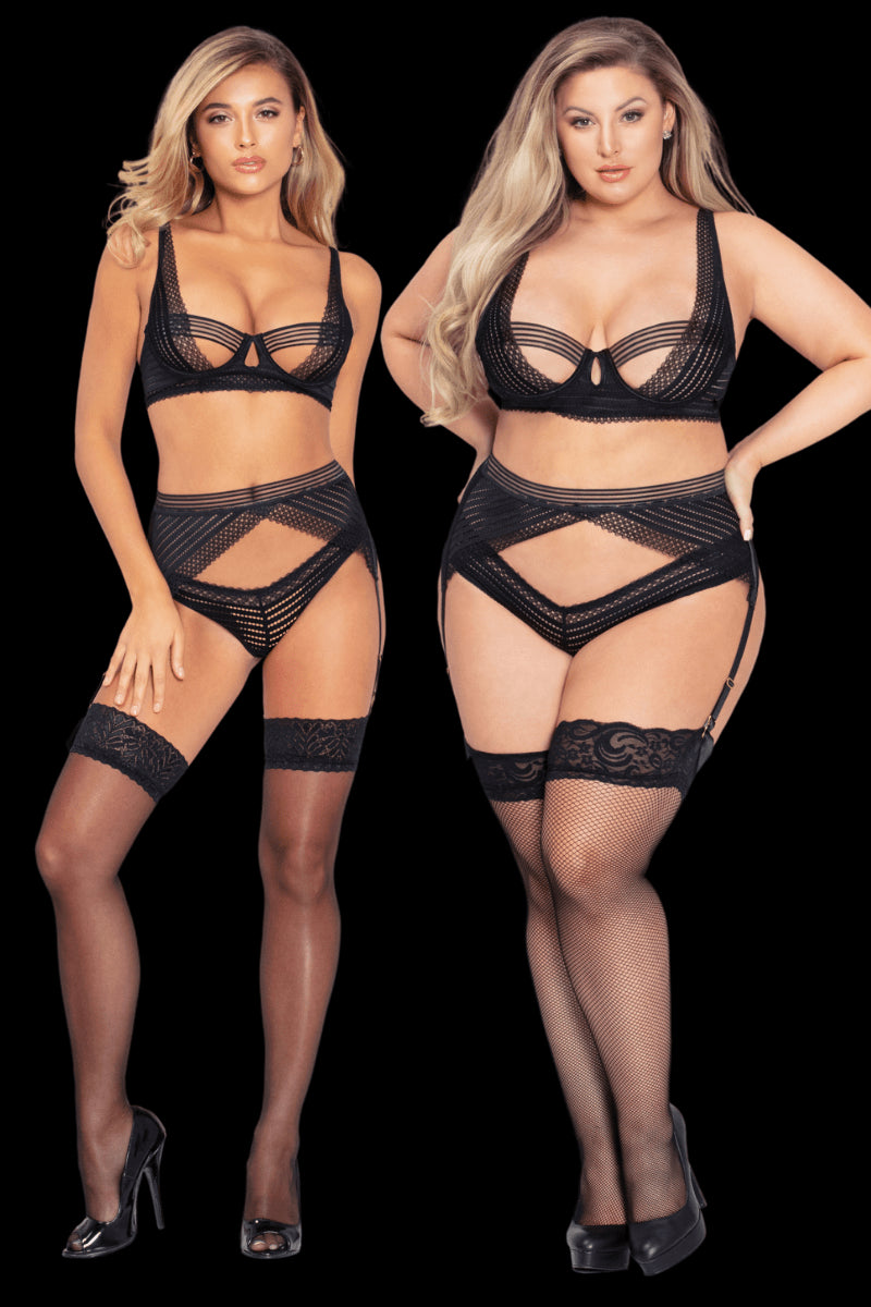 Seduction Chevron Set - Black