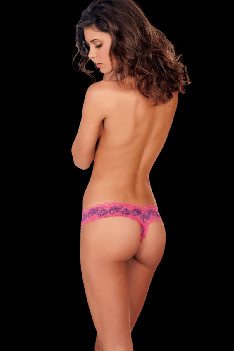 Spring Flowers Crotchless Briefs - Pink