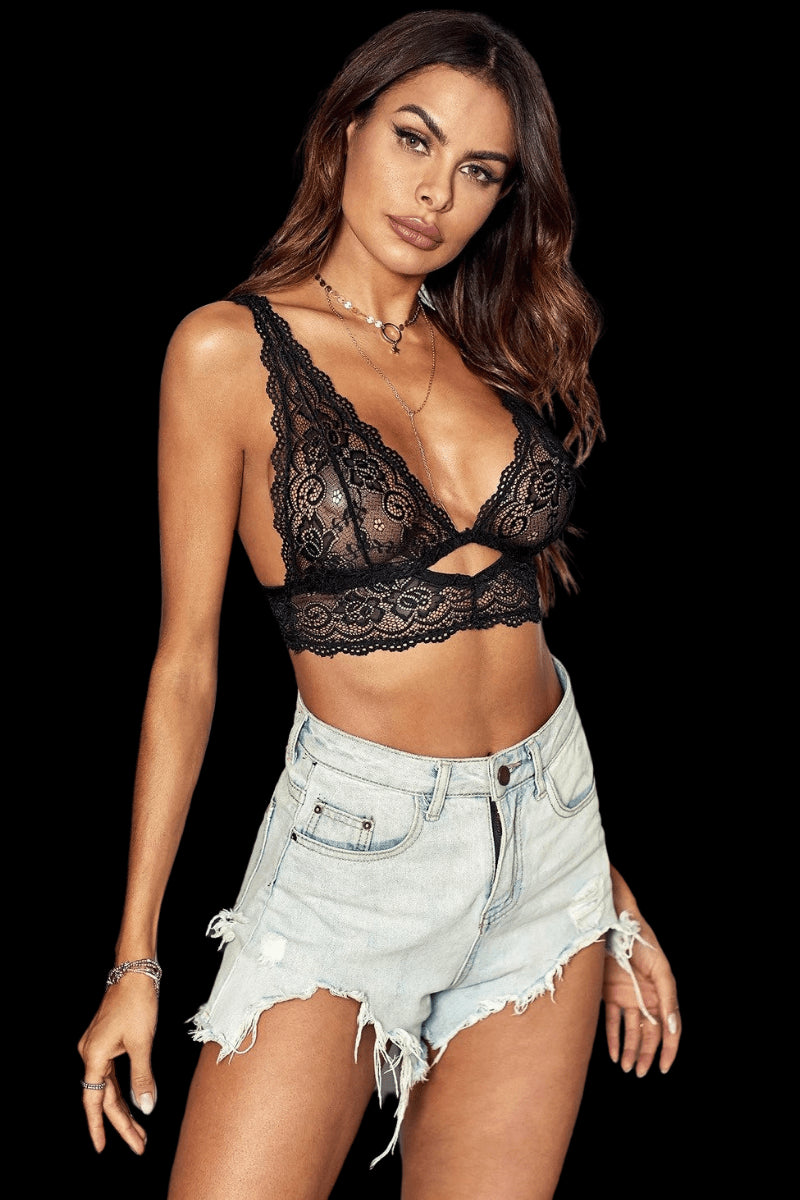 Treasure Me Bralette - Black
