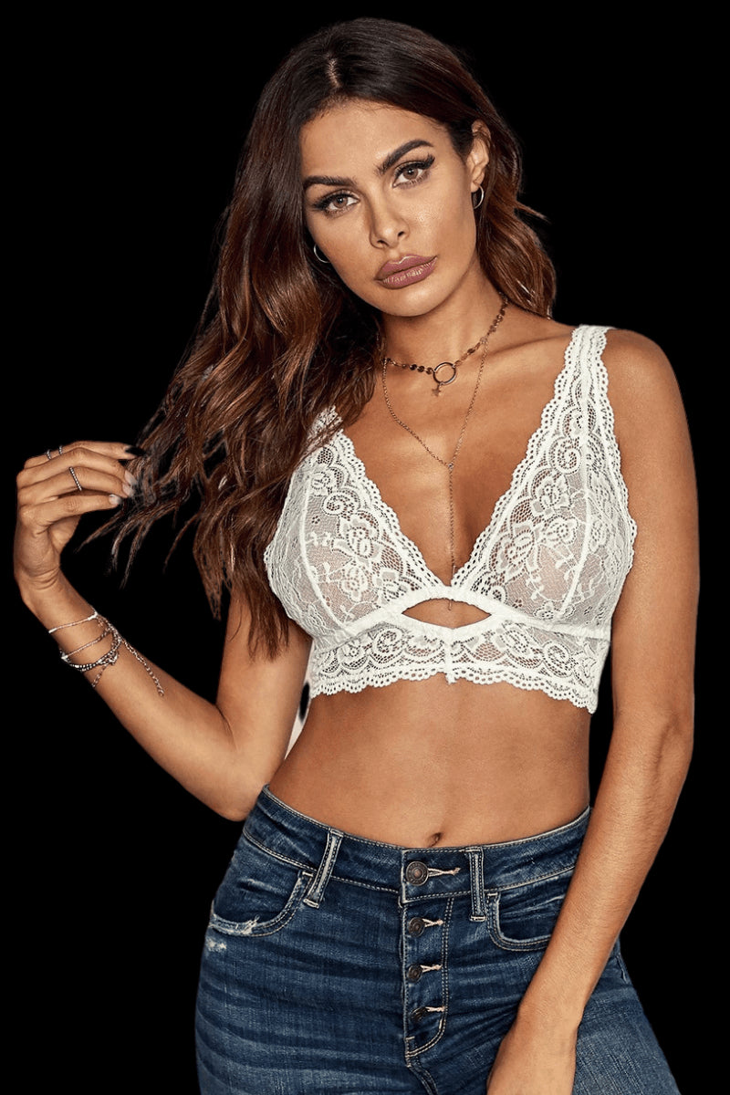 Treasure Me Bralette - White