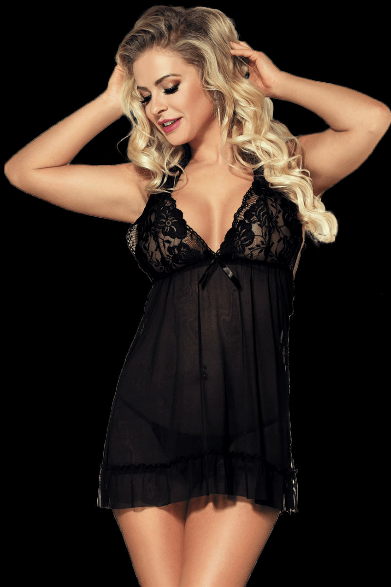 Wicked Babydoll Set - Black