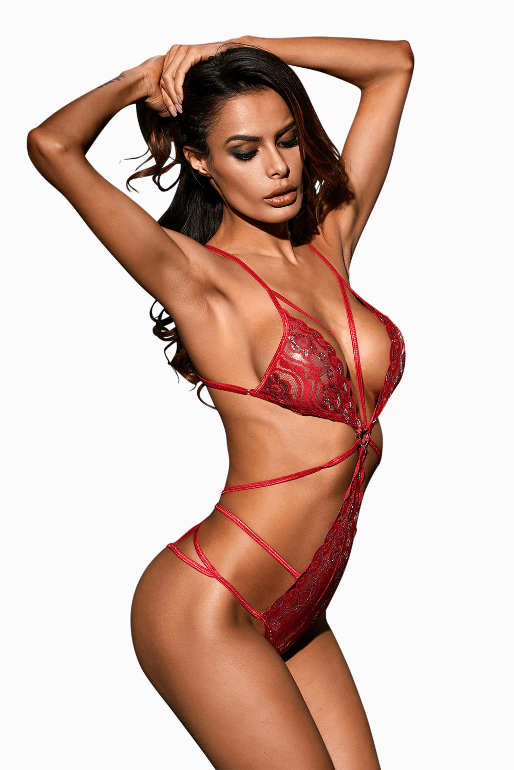 Wild Heart Bodysuit - Red
