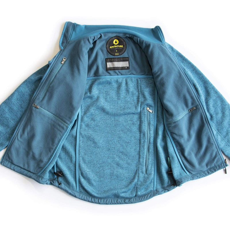 Women's Fleece Teal (4)