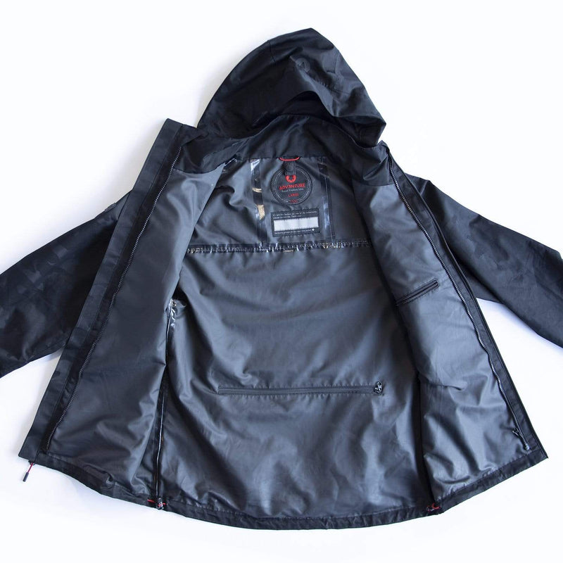 Men's Windbreaker Triple-Black (3XL)