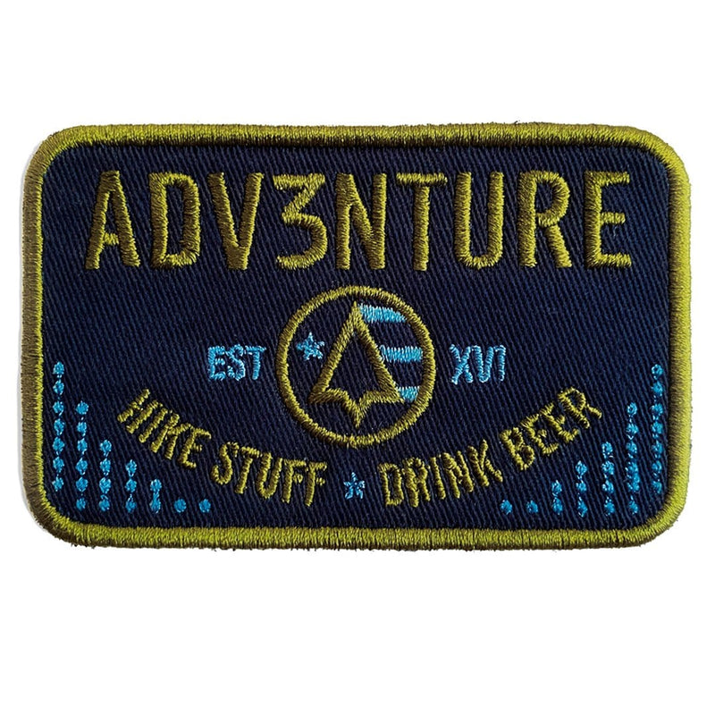 HIKE STUFF. DRINK BEER. PATCH (NAVY/GREEN)