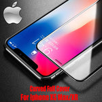 Verre trempé 10D bords biseautés - Protection 9H pour iPhone X/XS/XS Max/XR