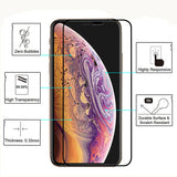 Verre trempé 10D bords biseautés - Protection 9H pour iPhone 11/Pro/Max/X/XS/XS Max/XR