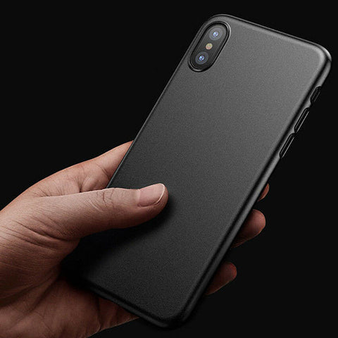 Coque Originale Ultra Slim de 0.3mm pour iPhone XS/Max/XR/X/SE 2020/8/7/6S/6 (Plus) - Noir mat