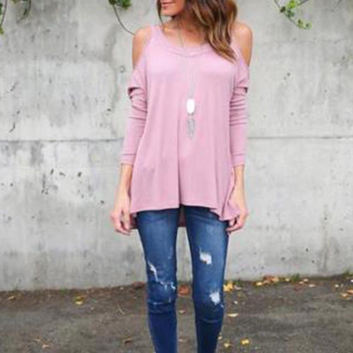 Autumn Loose Casual Long-Sleeved T-Shirt Female