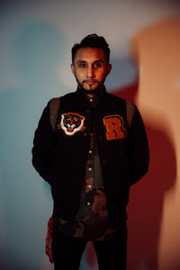 """Stitched"" Tiger Varsity Jacket"