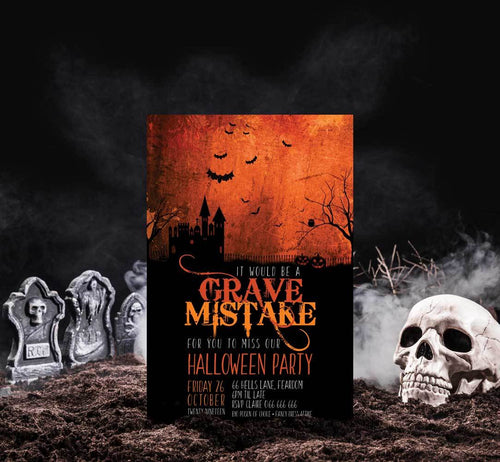 Grave Mistake Orange Glow - Halloween