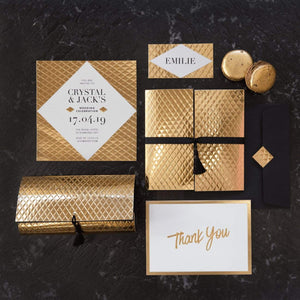 A4 Paper Diamond Gold Embossed 5pk