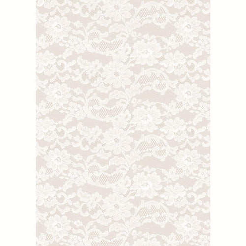 A4 Paper English Lace Pearl 5pk
