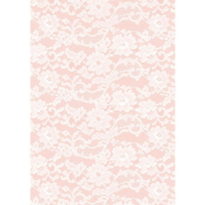 A4 Paper English Lace Rose 5pk