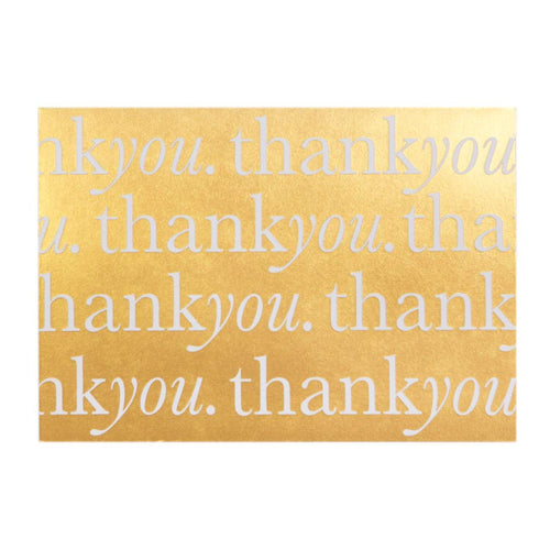 A6 Card and Envelopes Gold Thank You PK10 - Designer Cards